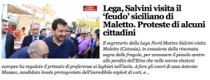 Salvini a Maletto per la sagra
